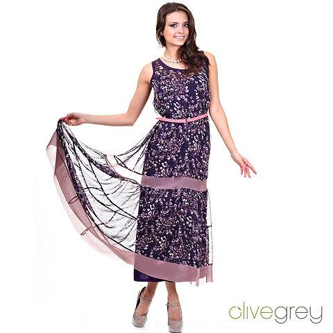 624034b4afe Шикарное двойное платье - верхнее - из летящего шифона