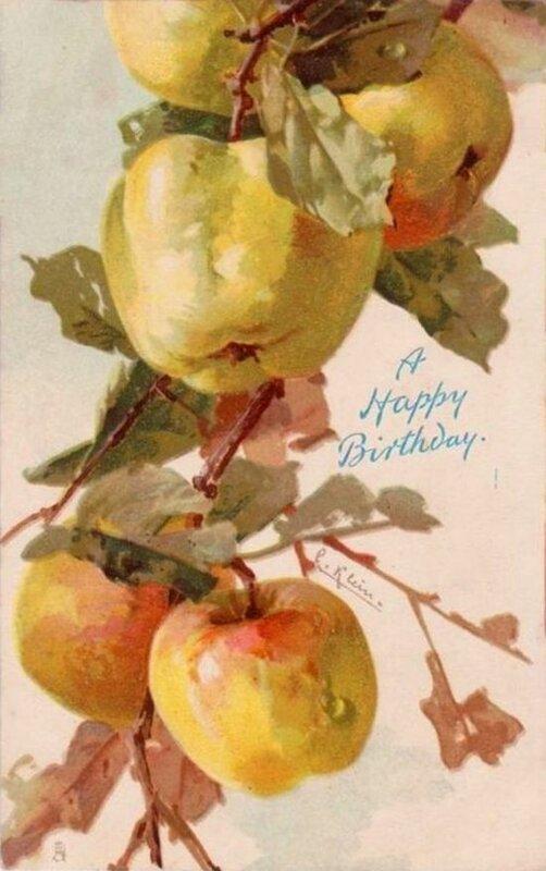 К. Кляйн. Яблоки. С днём рождения !