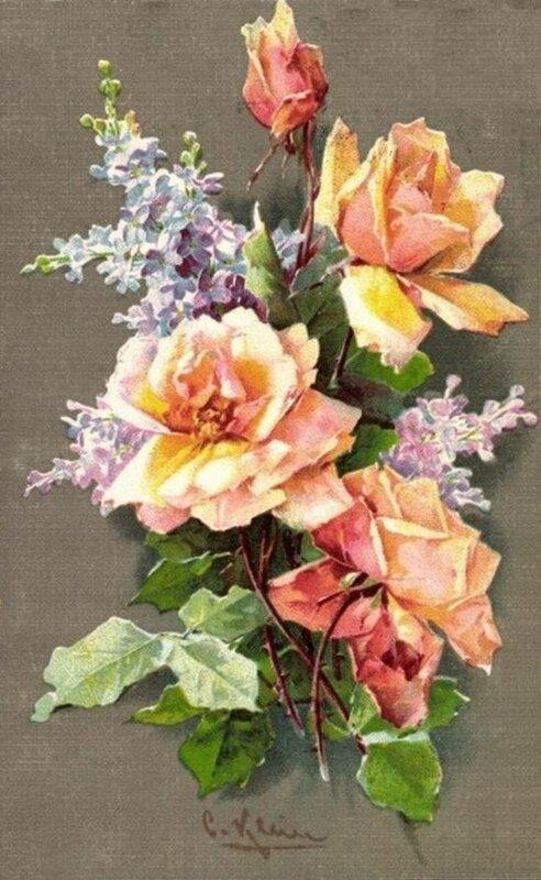 К. Кляйн. Розы и сирень.