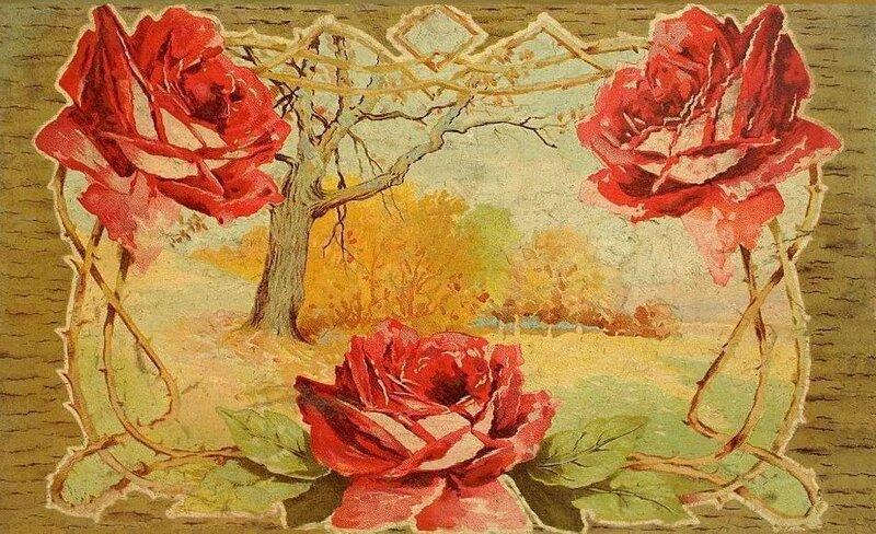 К. Кляйн. Осенний пейзаж. Три розы.