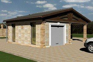 Отдельно стоящий гараж в частном доме