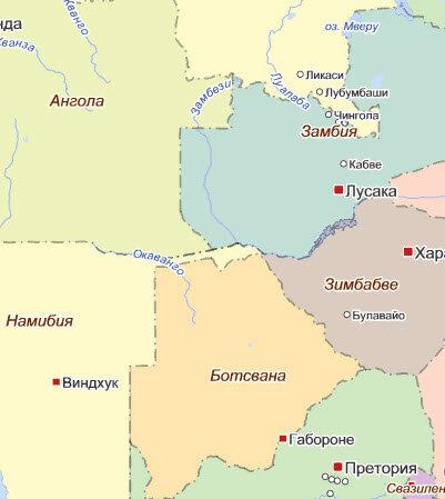 Кусочек Африки. Международный заповедник Kavango Zambezi