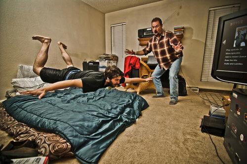 парим над кроватью