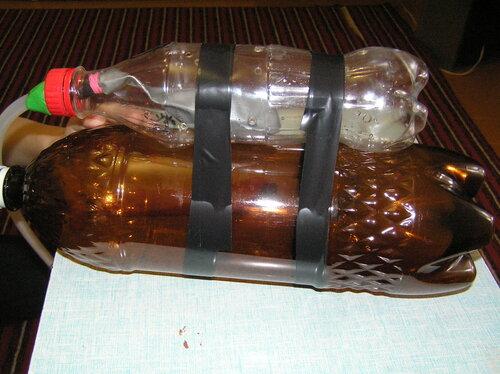 как сделать модель подводную лодку из бутылки