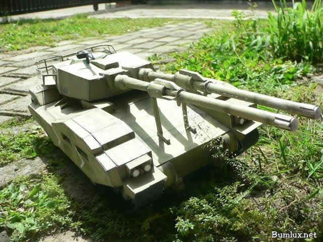 Как сделать танк из бумаги т 34