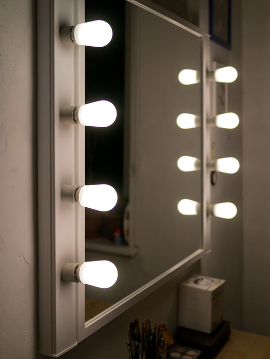 Зеркало для визажистов своими руками