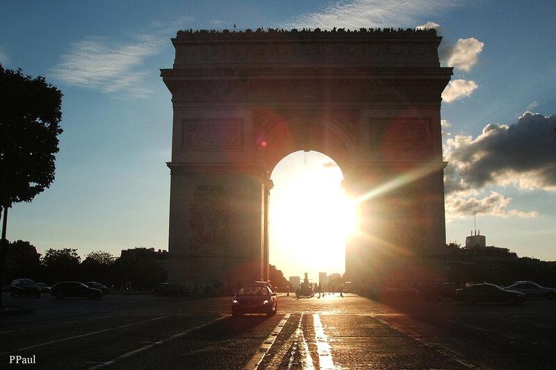 Закат у Триумфальной арки