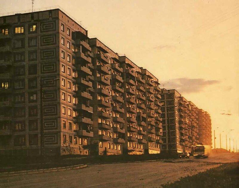 Троллейбус на ул. Фрунзе, 1982, фото В.Собровина
