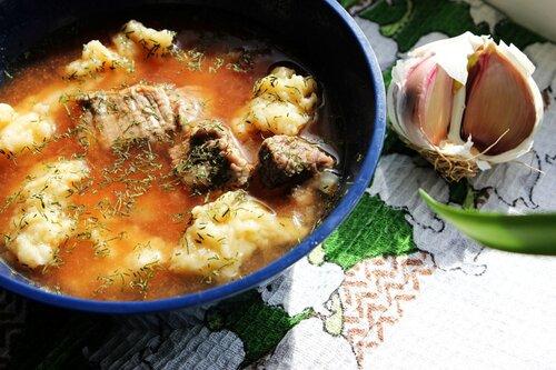 Томатный суп с клецками рецепт с фото