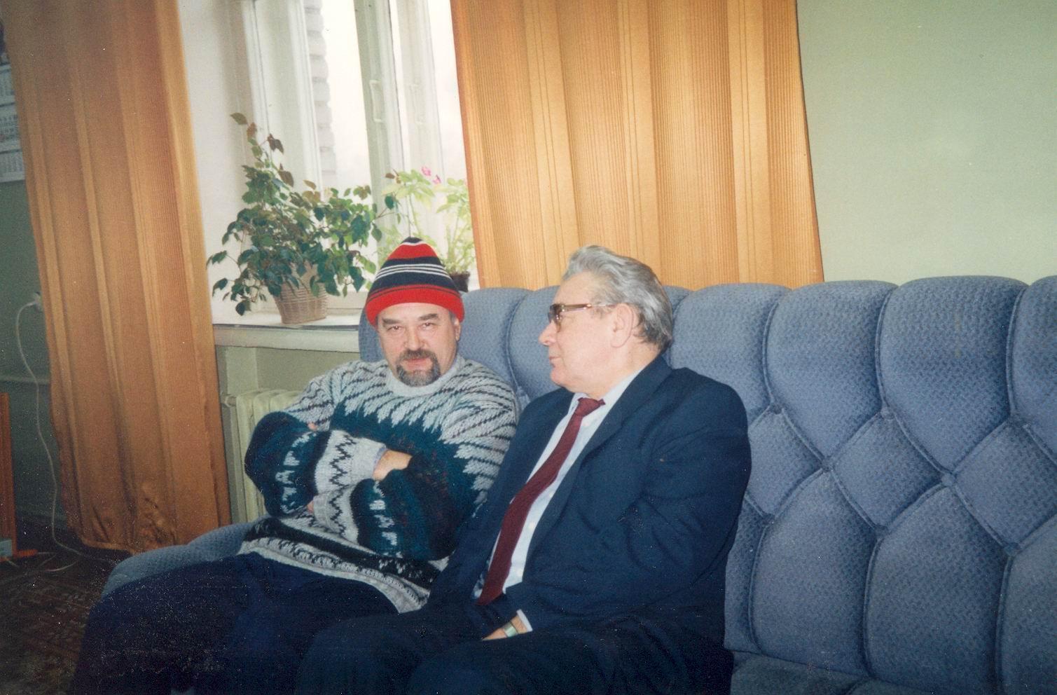 Евгений Чебалин  с министром МВД СССР А.В. Власовым, будущим премьер-министром России.
