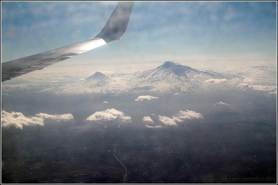 гора арарат фото с самолета попробовав