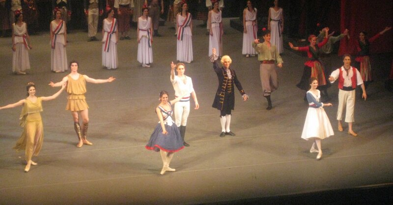 """""""Пламя Парижа"""", 24 марта 2012 г., балет Большого театра, поклоны"""