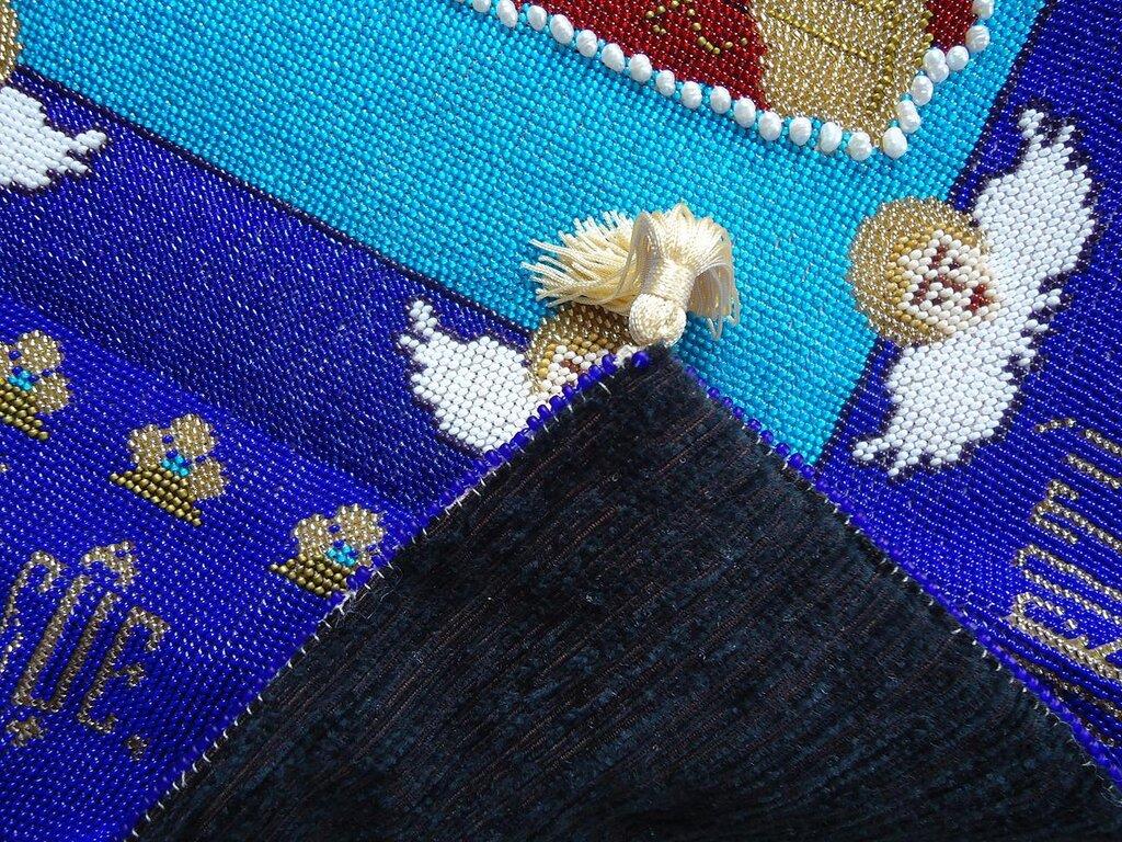 anchuria Плащаница 60 на80, копия Томской в 2 раза меньше для Сан Пауло бисер вышивк по канве плащаница.