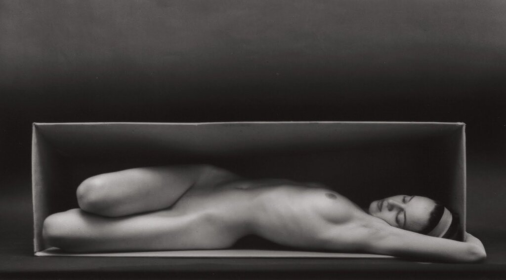 photo by Ruth Bernhard.In the Box, 1962