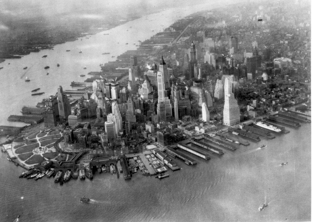 Aerial View of Manhattan 1942