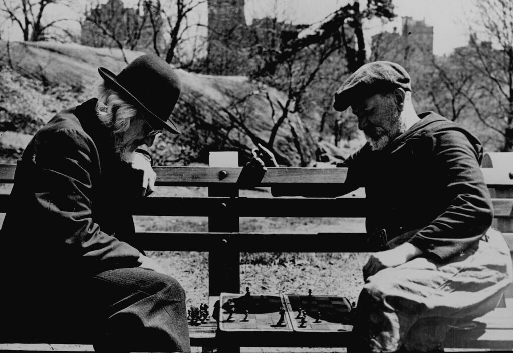 Chess in Central Park, New York City 1946