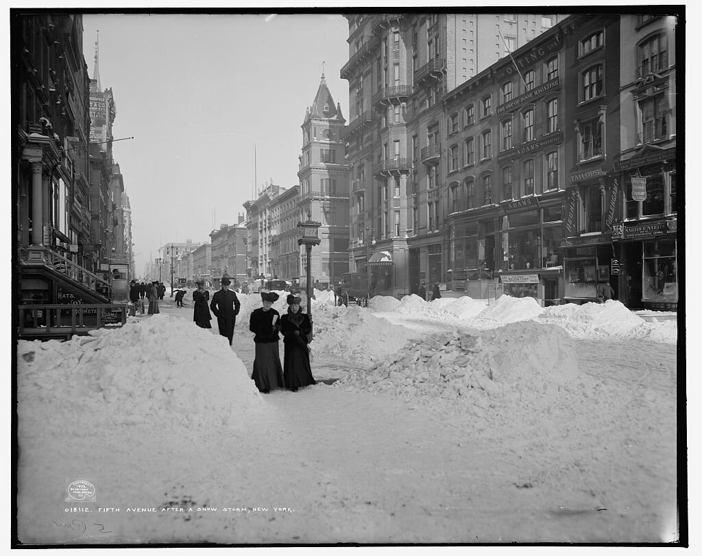 Fifth Avenue After a Snowstorm, New York 1905