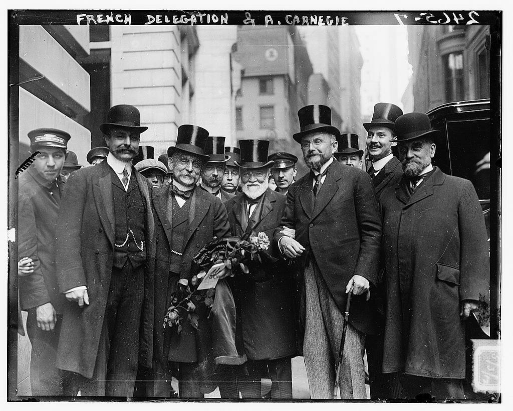 French Delegation and Andrew Carnegie at the New York Chamber of Commerce 1912