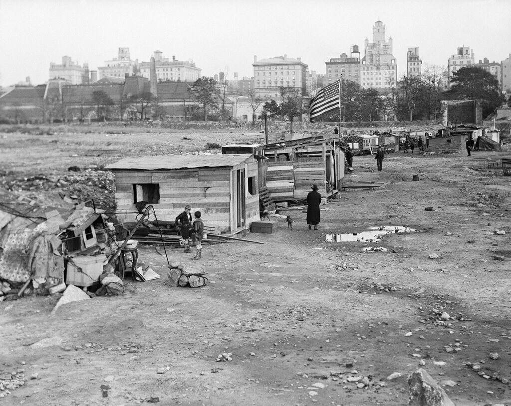 Hooverville in New York City 1931