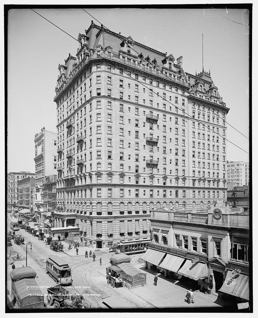 Hotel Manhattan, New York 1904
