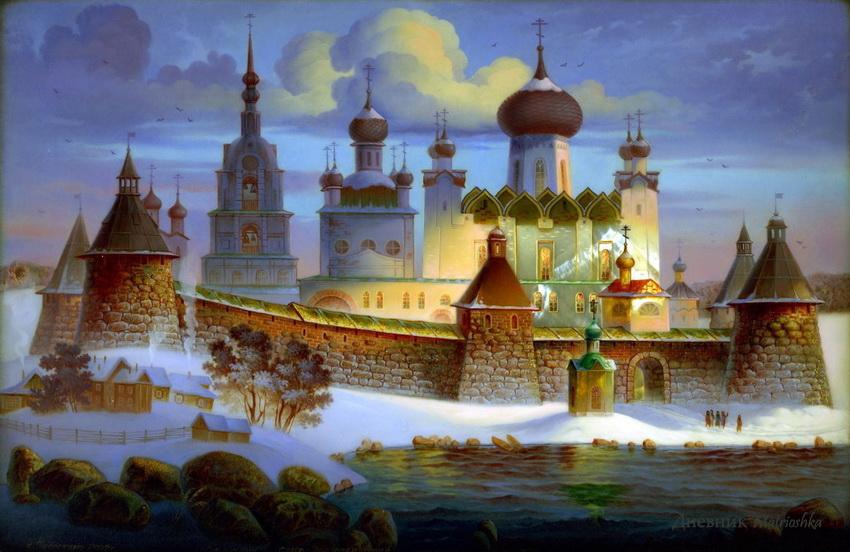 Федоскинская миниатюра - вид традиционной русской лаковой миниатюрной живописи масляными красками на папье-маше...