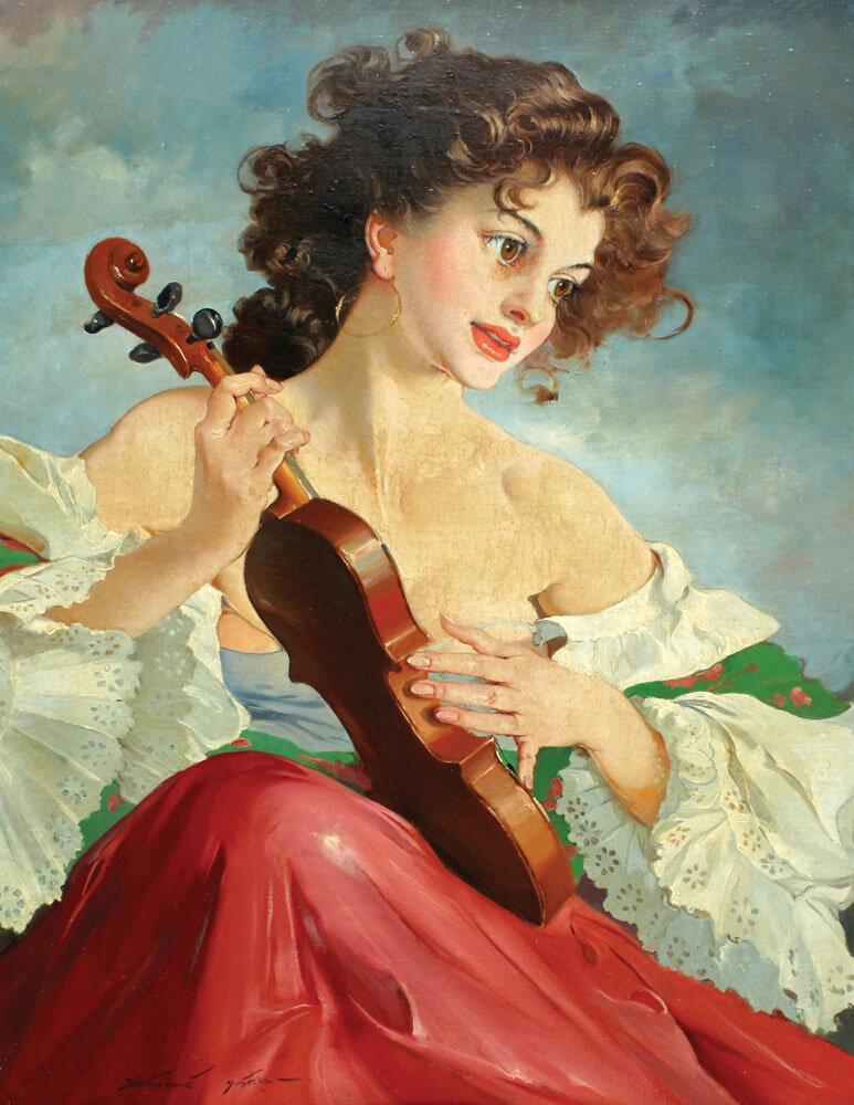 Под эти чудо-звуки скрипки, играй любимая, играй...Maria Szantho (1898-1984)