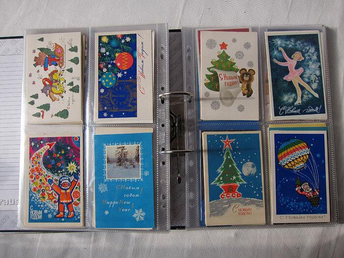 Открытки, как хранят коллекцию открыток