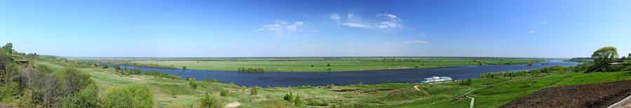 Панорама реки Оки в Константиново