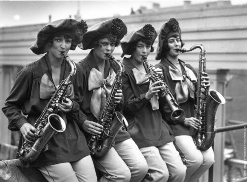 Members of Irving Aaronson's dance band, the Commanders, 1926