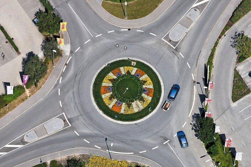 Kreisverkehr in Pfarrkirchen