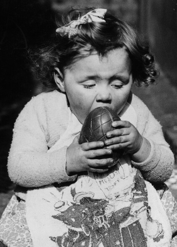 Eating Easter Egg