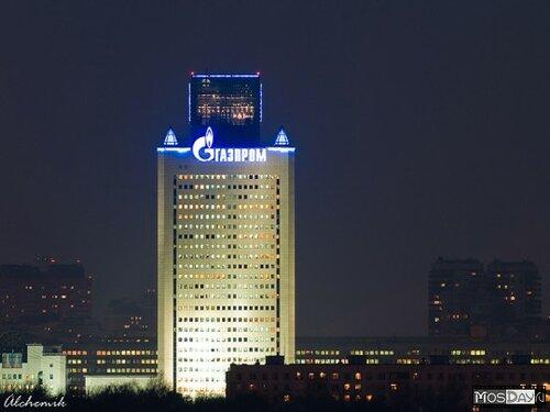 ОАО «Газпром» - субподрядчик-производитель оборудования архитектурного освещения центрального офиса.