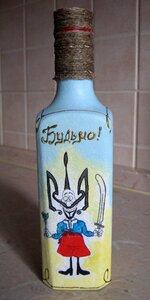 Как украсит бутылку водки своими руками