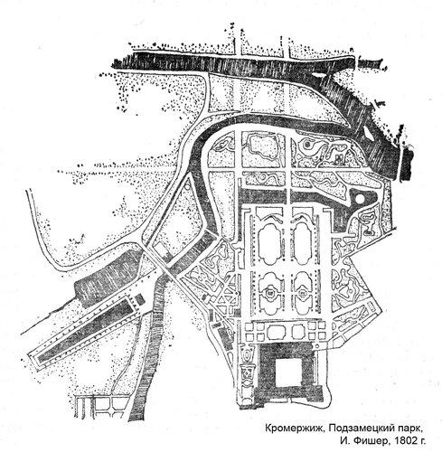 Подзамецкий парк, план
