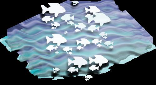 рыбки в волнах