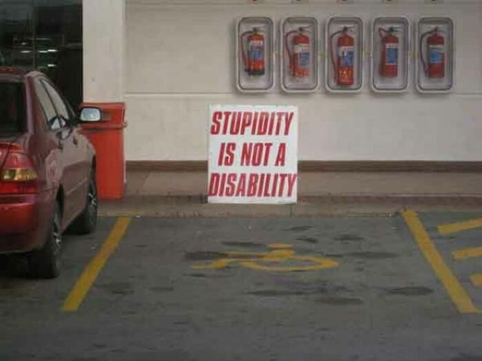 Тупость - не инвалидность