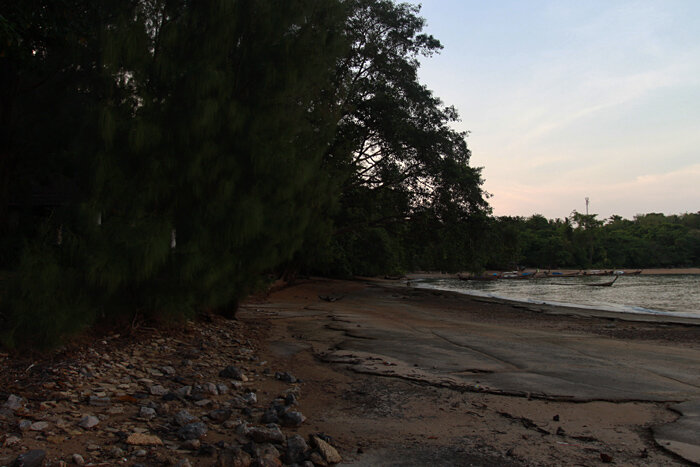 Пляж Кладбище ракушек в Краби. Таиланд