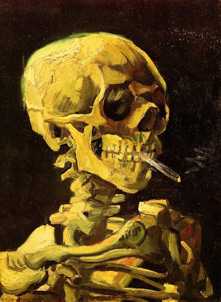 Van Gogh, Skull, Cigarette. 1886.