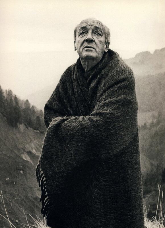 Vladimir Nabokov by,  1972. Photo: Lord Snowdon.