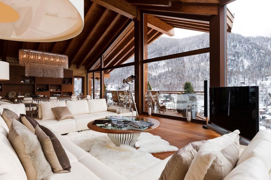 6-ти звездочный Chalet Zermatt Peak в горах Швейцарии