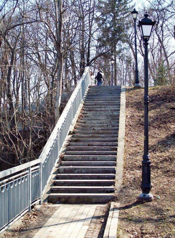 Лестница к площадке обозрения Хрещатого парка