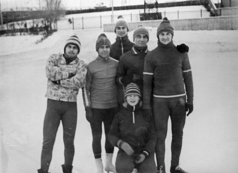Январь 1981г. Муртазин Р.,Шварцман Ю.,Маснов О.,Беляков В.,Иваненко В.,Дупанова Н.(внизу)