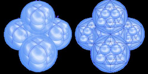 молекулы кремнезема,