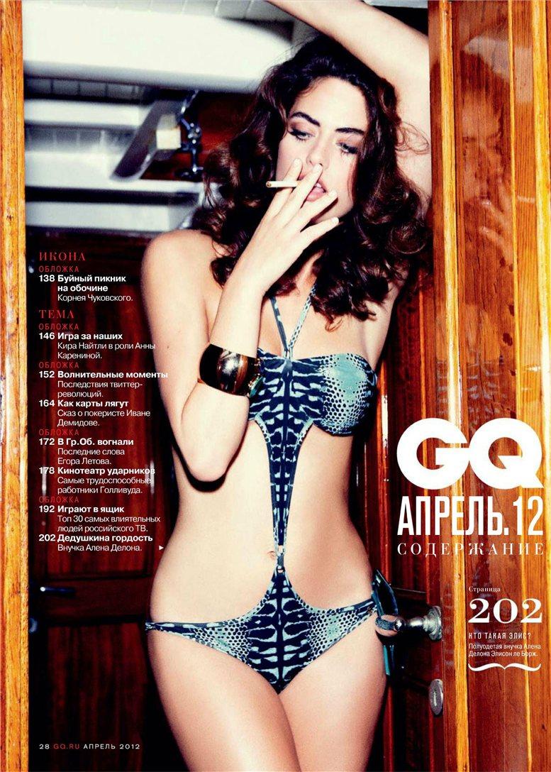 Alyson le Borges / Элисон Ле Борж, фотограф Ellen von Unwerth в журнале GQ Россия, апрель 2012