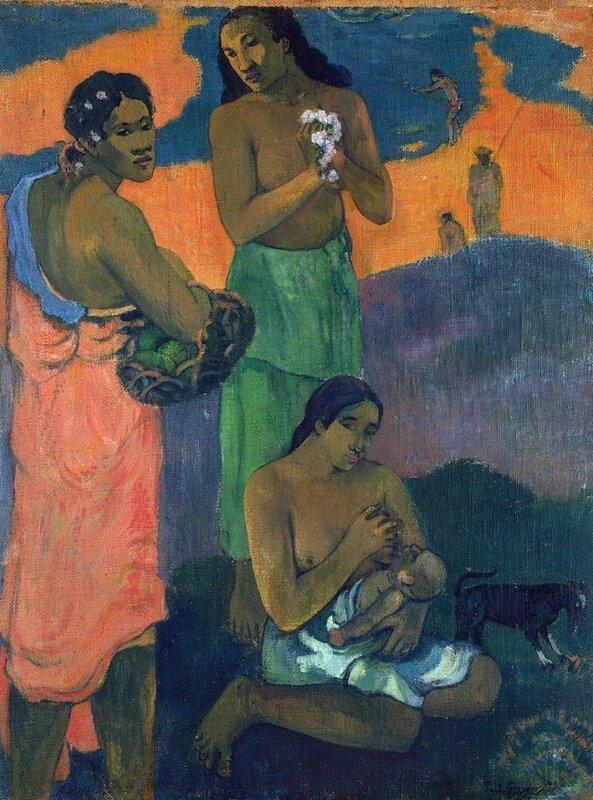 Гоген Поль, Женщины на берегу моря (материнство), 1899, Эрмитаж