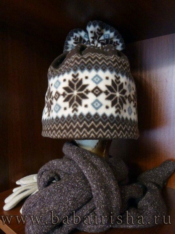 шапка из флиса