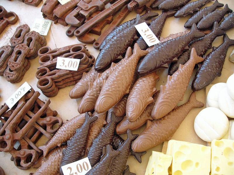 Шоколадные рыбки