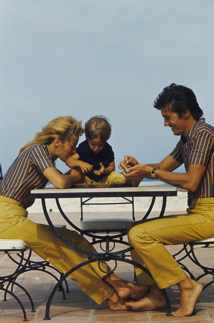 1966. С Натали и Энтони в Сан-Тропе