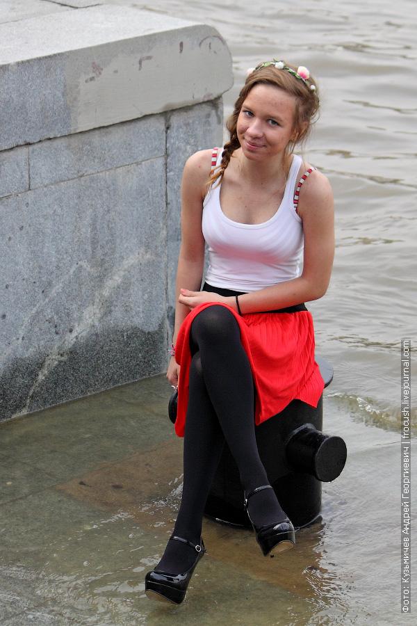 высокий уровень воды в Москве-реке