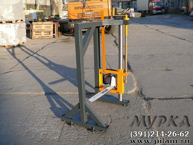 Шинная пилорама Мурка М1 (бензиновая) :: Шинные пилорамы :: Деревообрабатывающее оборудование. Продажа и доставка. Пилорамы, оци